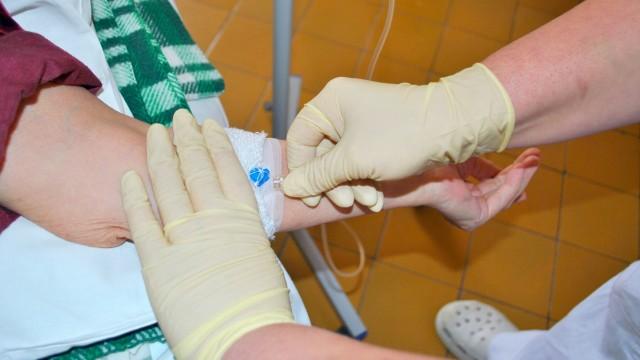 Kemoterápiás infúzió beadása