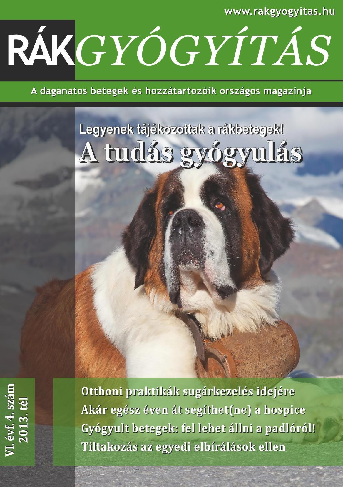 Rákgyógyítás Magazin 2013. tél