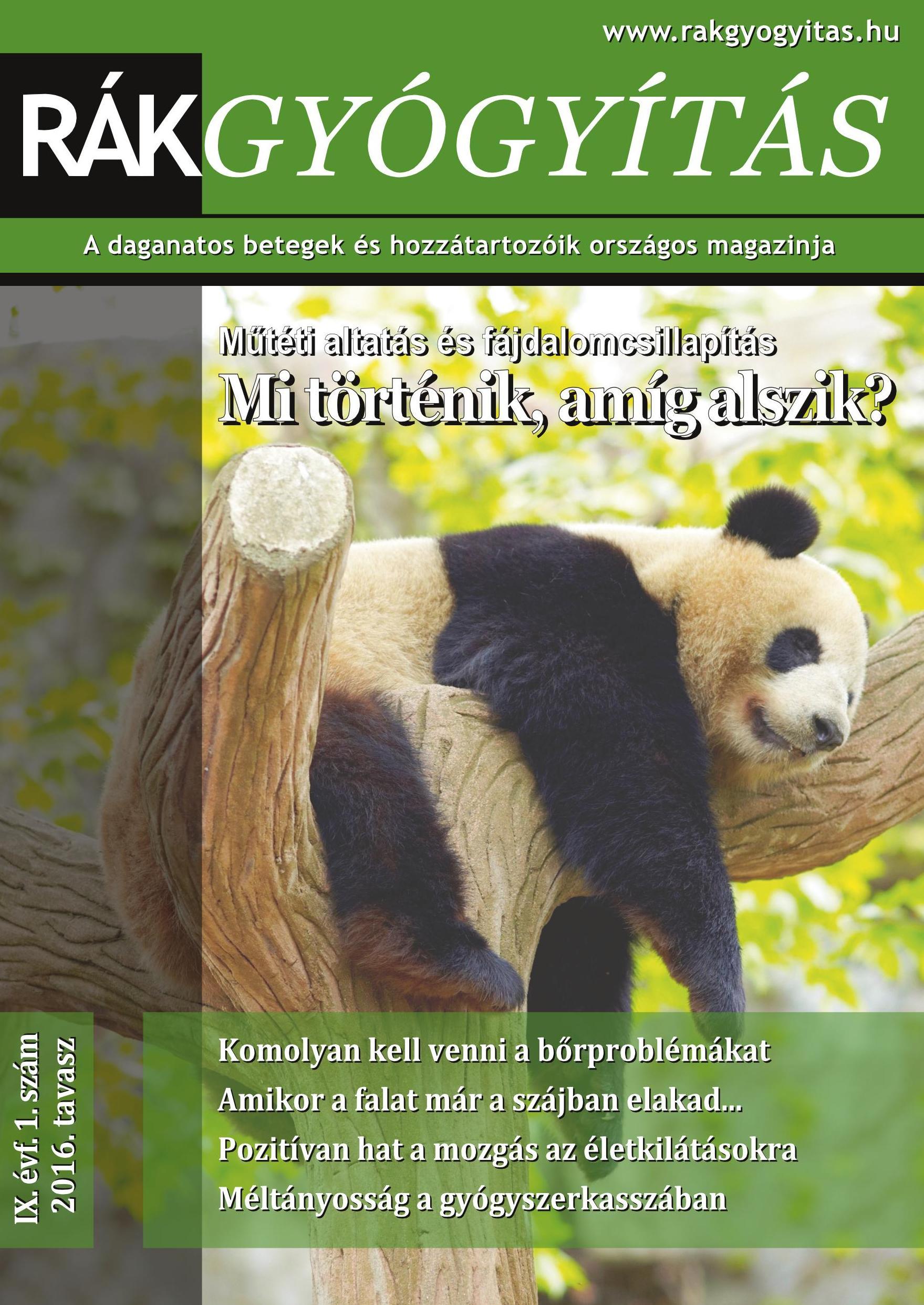 Rákgyógyítás Magazin 2016. tavasz