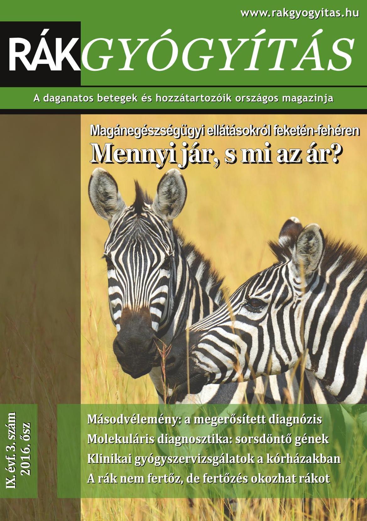 Rákgyógyítás Magazin 2016. ősz