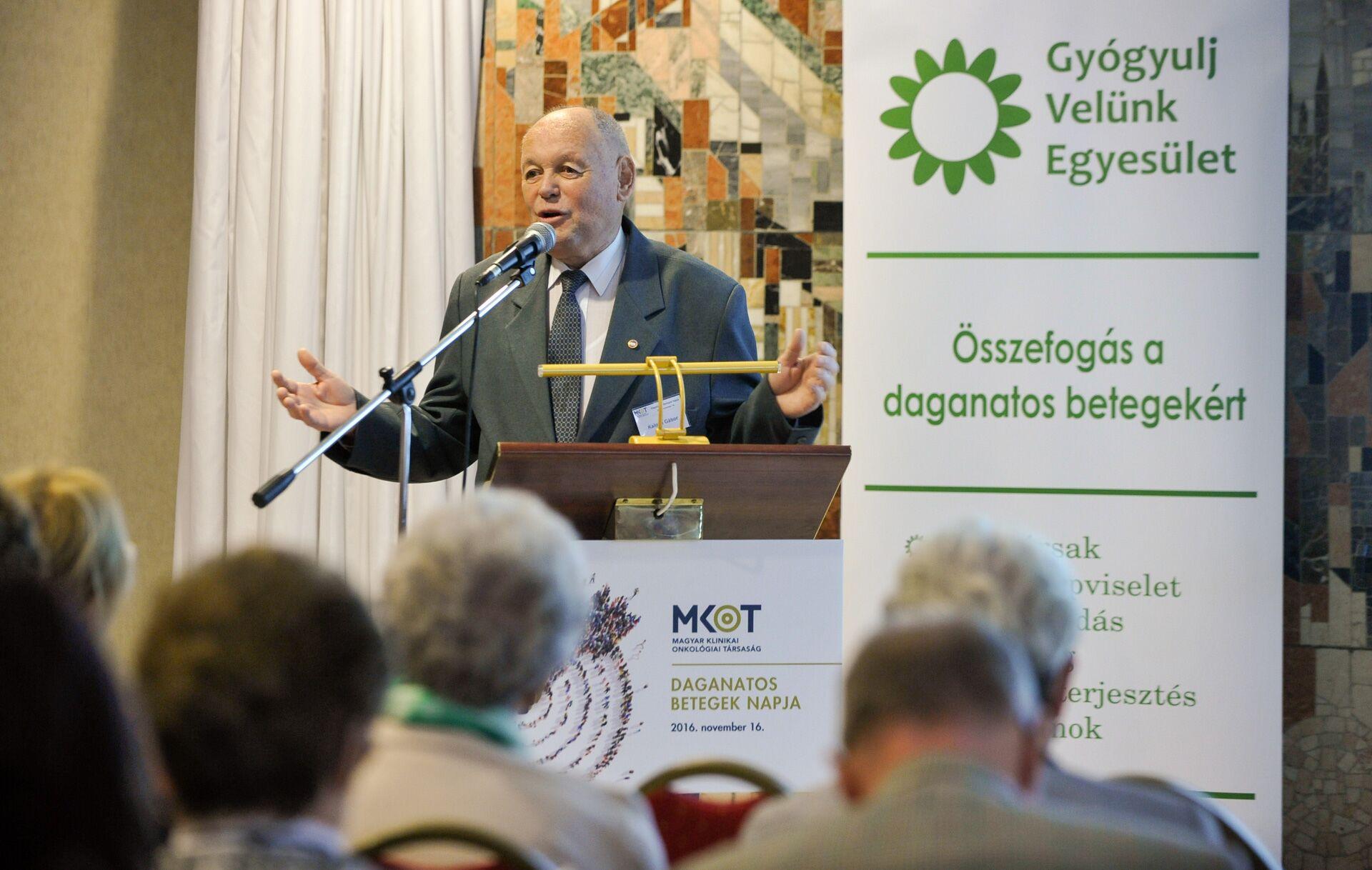Kalotay Gábor, a Gyógyulj Velünk Egyesület elnöke