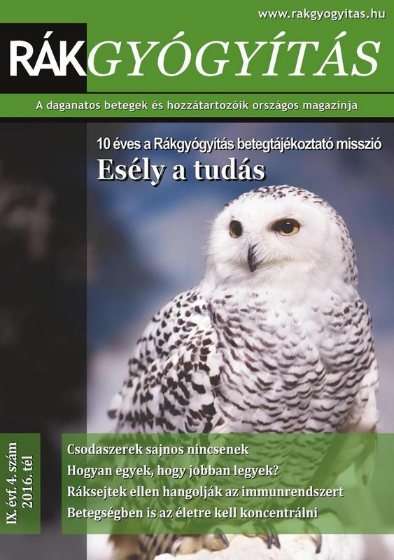 Rákgyógyítás Magazin 2016. tél