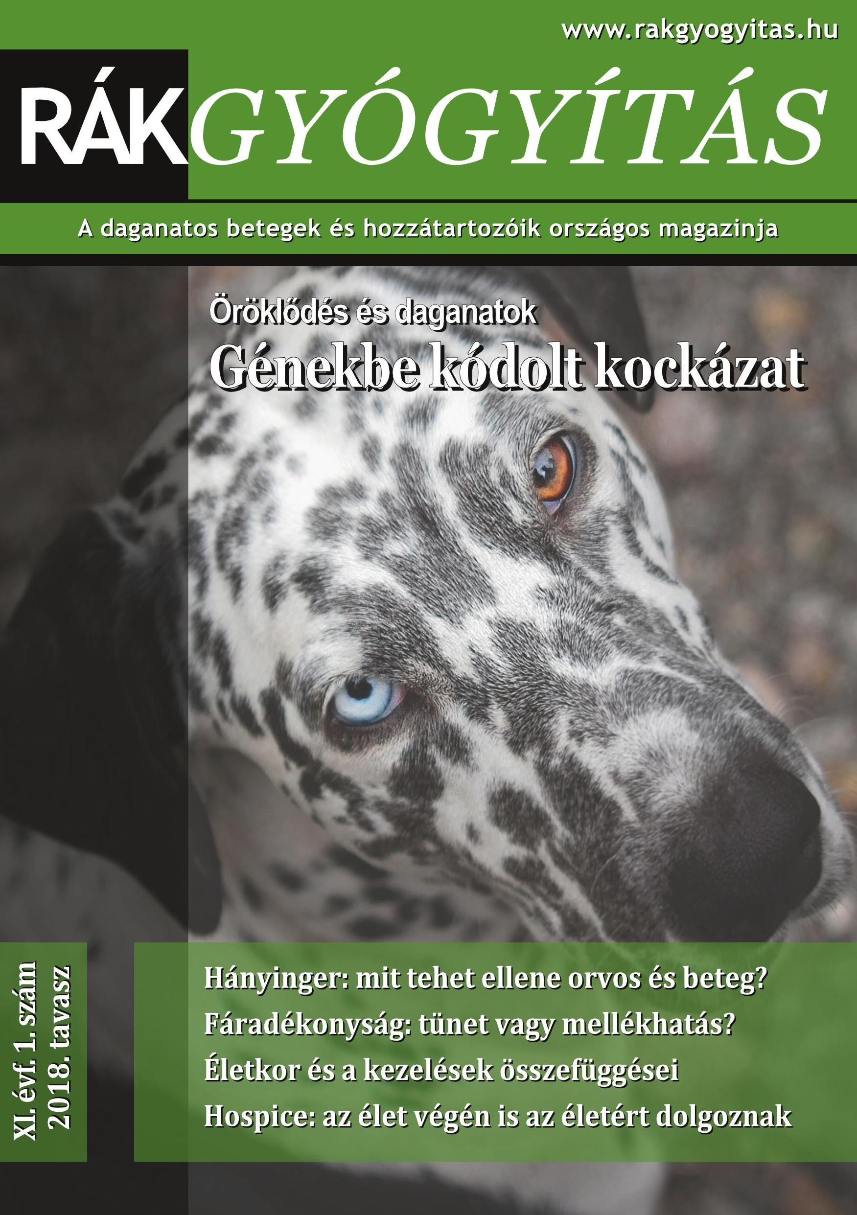 Rákgyógyítás Magazin 2018. tavasz