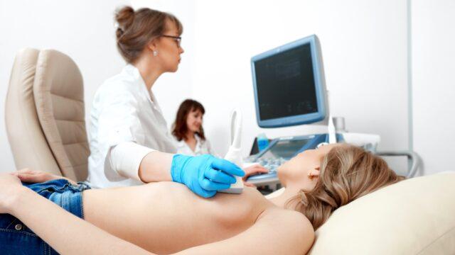 Emlő ultrahang vizsgálat - Fotó: Depositphotos.com