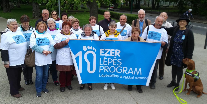 A Gyógyulj Velünk Egyesület 10 Ezer Lépés Program rendezvénye a Margitszigeten